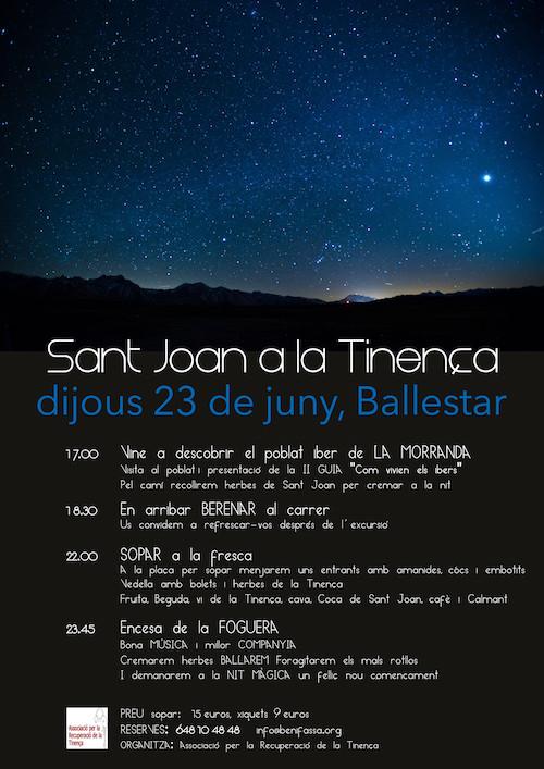 Vine a celebrar Sant Joan a la Tinença de Benifassà
